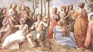Apollo and the Muses by Raphael